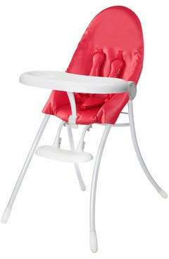Bloom Nano Urban Highchair - White Frame & Red Seat by