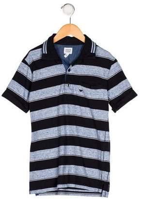 Armani Junior Boys' Striped Knit Shirt