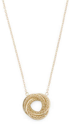 Made In Peru 14k Gold Love Knot Necklace
