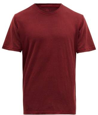 120% Lino Crew Neck Linen T Shirt - Mens - Red