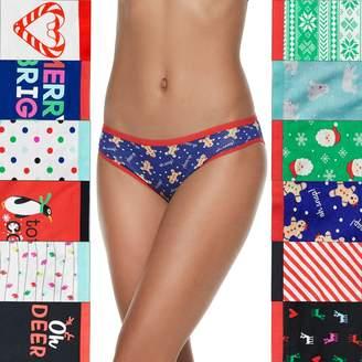 So Juniors' SO 12-Pack Christmas Panties Holiday Box