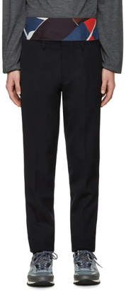 Kolor Navy Wool Trousers