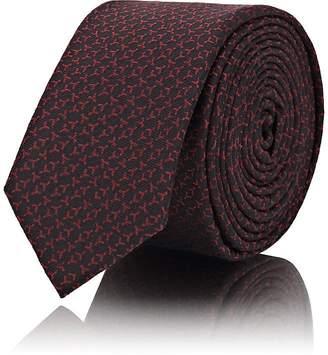 "Saint Laurent Men's ""Y"" Jacquard Silk Necktie"