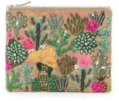 Arella Embroidered Clutch