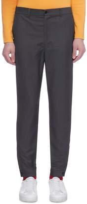 8ON8 Zip cuff tapered twill pants