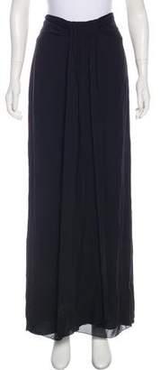 Armani Collezioni Ruched Accent Maxi Skirt
