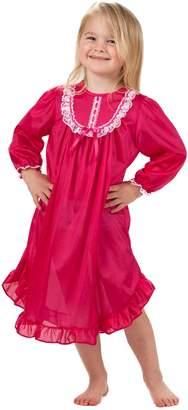 Laura Dare Big Girls Long Sleeve PJ Nightgown