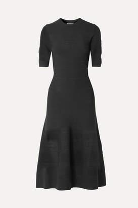 Jason Wu Pointelle-knit Midi Dress - Black