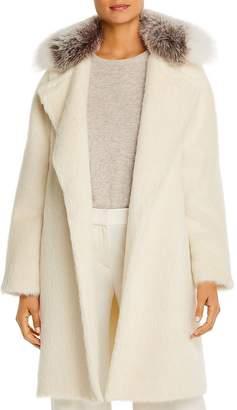 Maximilian Furs Fox Fur-Collar Alpaca-Blend Coat - 100% Exclusive