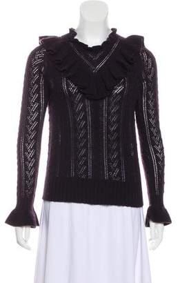 Ulla Johnson Cashmere Ruffle-Accented Sweater