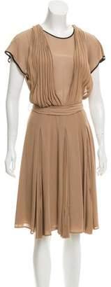 Fendi Pleated Midi Dress