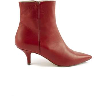 Roberto Festa Red Calf Leather Ankle Boots