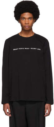Helmut Lang Black Smart People Long Sleeve T-Shirt
