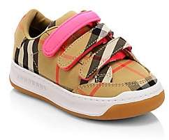 Burberry Baby's& Kid's Plaid Grip-Tape Sneakers