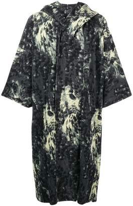 Issey Miyake Homme Plissé patterned oversized coat