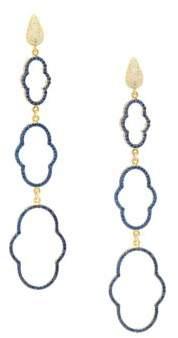 Azaara22K Yellow Gold-Dipped Cubic Zirconia Drop Earrings