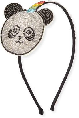 Bari Lynn Girls' Crystal Panda-Unicorn Headband