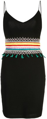 Alice + Olivia Alice+Olivia Loralee embroidered fitted dress