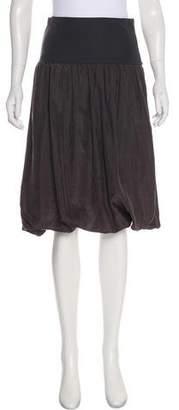 Kristensen Du Nord Silk Knee-Length Skirt