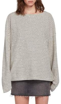 AllSaints Adelise Stripe Long Sleeve Cotton Tee