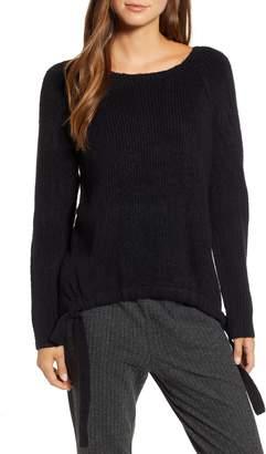 Lou & Grey Tie Ribbed Sweater