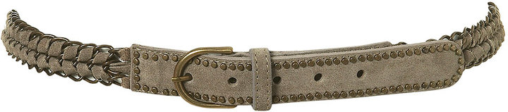 Chain And Stud Suede Belt