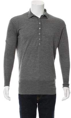 Burberry Wool Polo Sweater