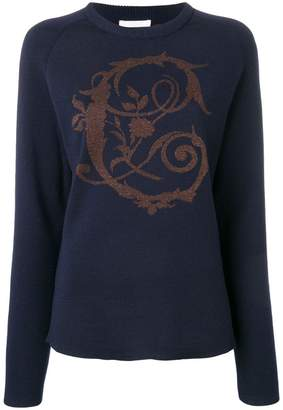 Chloé baroque lurex intarsia sweater