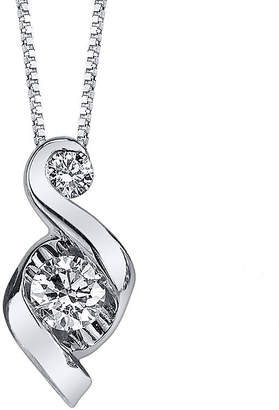 Sirena Juno Lucina 1/3 CT. T.W. Diamond 14K White Gold Swirl Pendant Necklace