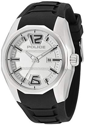Police Men's PL.94764AEU/01 Quartz Watch with White Dial Analogue Display and Silicone Strap