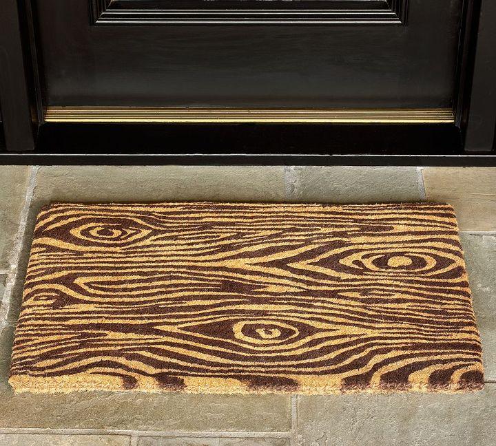Faux Bois Printed Door Mat