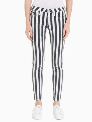 Calvin Klein skinny wide stripe ankle jeans