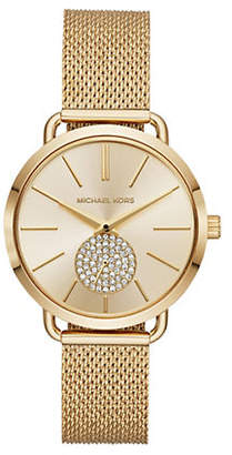 Michael Kors Portia Goldtone Mesh Bracelet Watch