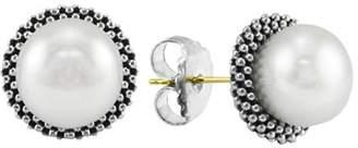 """Lagos Sterling Silver """"Luna"""" Pearl Stud Earrings"""