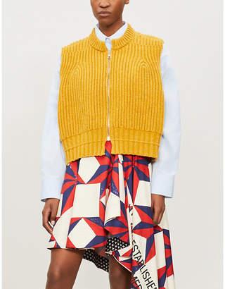 Calvin Klein Chunky-knit sleeveless wool cardigan