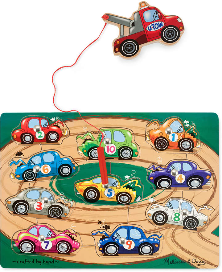 Melissa & Doug Kids Toy, Tow Truck Magnetic Puzzle Game