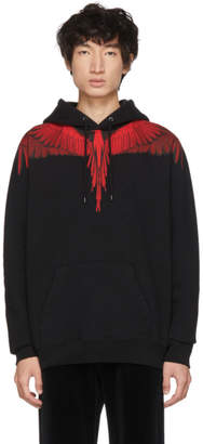 Marcelo Burlon County of Milan Black and Red Wings Hoodie