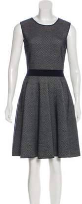 Christian Dior Sleeveless Knit Dress Blue Sleeveless Knit Dress