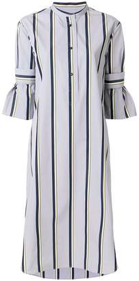 Odeeh striped flared dress