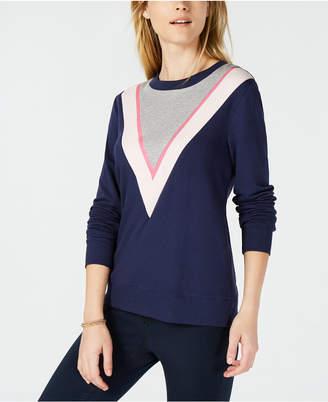Maison Jules Colorblock Chevron Sweatshirt, Created for Macy's