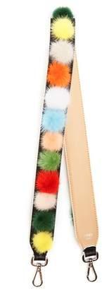 Fendi Strap You Pompom Leather Bag Strap - Womens - Multi