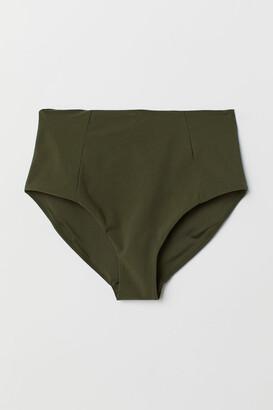 H&M Bikini Bottoms High Waist - Green