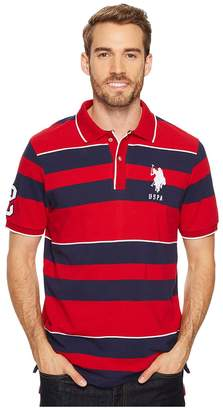 U.S. Polo Assn. Classic Fit Striped Short Sleeve Pique Polo Shirt Men's Short Sleeve Pullover