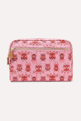 AERIN Beauty - Johanna Ortiz Medium Printed Canvas Cosmetic Case - Pink