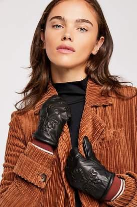 Scotch & Soda Houston Embossed Leather Gloves