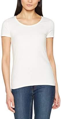 People Tree Peopletree Women's Gaia White Organic T-Shirt (Eco Wh1)