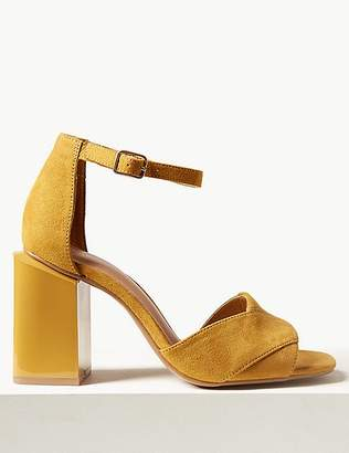 Marks and Spencer Wide Fit Statement Heel Ankle Strap Sandals