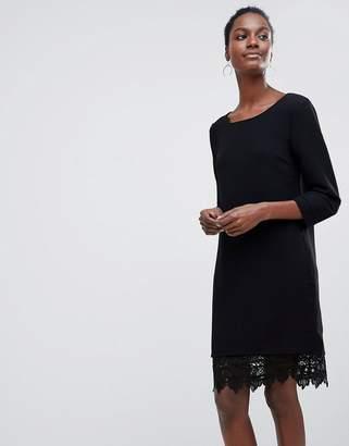 Vila Lace Trim Shift Dress