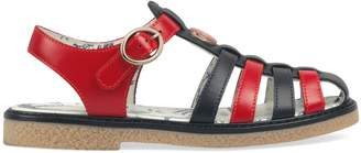 Gucci Children's leather sandal with bee
