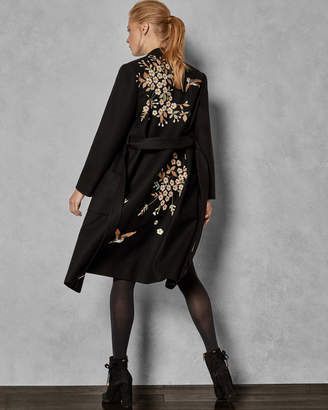 Ted Baker FENNELA Graceful embroidered wool coat